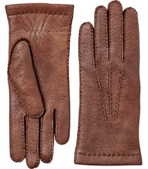 men's hestra peccary leather gloves, size m - brown
