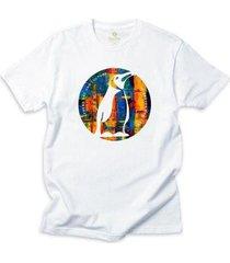 camiseta arte e cultura cool tees pinguim a óleo - masculino