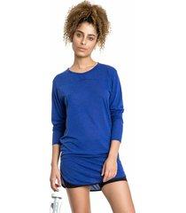 shorts saia live hydro azul - azul - feminino - dafiti