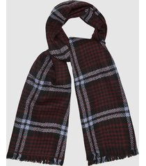 reiss jess - houndstooth checked scarf in berry, womens