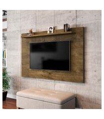 painel para tv até 50 pol móveis bechara kenzo madeira rústica