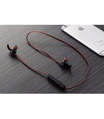 audífonos bluetooth, funcionamiento auriculares manos libres  deporte inalámbrico manos libres  estéreo en el oído estéreo de doble oreja teléfono para iphone samsung sony (rojo)