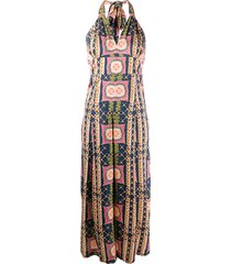 temperley london all-over print jumpsuit - blue