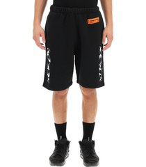 heron preston hp brush sweat shorts