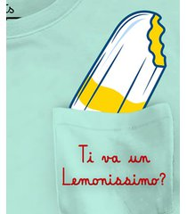 mc2 saint barth lemon ice cream printed t shirt with embroidery pocket - special edition