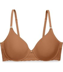 natori bliss perfection contour underwire bra, t-shirt bra, women's, brown, size 32d natori