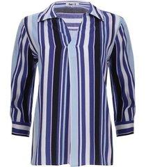 camisa a rayas tres colores color azul, talla l