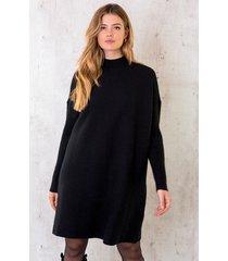 oversized knitted dress zwart