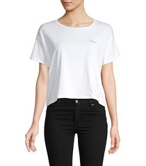 femme cotton cropped tee