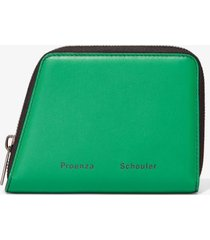 proenza schouler trapeze zip wallet palm/black one size