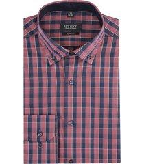 koszula bexley 2847 długi rękaw slim fit bordo