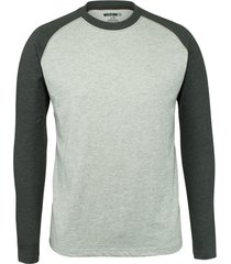 wolverine men's brower long sleeve tee ash heather, size l