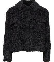 wendy jacket outerwear faux fur svart soft rebels