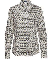 d1. autumn print stretch bc shirt långärmad skjorta multi/mönstrad gant