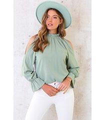 cold shoulder blouse mint