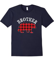 red plaid brother bear buffalo matching family pajama tshirt men