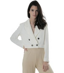 blazer blanco symmetria covunco