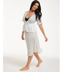 tie front beach top co-ord