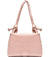 kassl editions pink lady padded satin shoulder bag