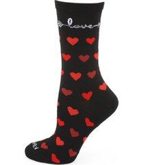 women's love struck bamboo crew socks