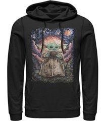 fifth sun men's star wars mandalorian sipping starries fleece pullover hoodie