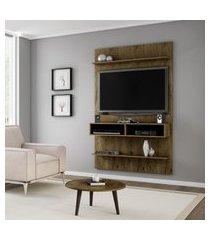painel móveis bechara vega para tv até 47 pol 2 nichos rústico