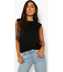 oversized mouwloos t-shirt, black