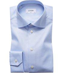eton overhemd lichtblauw twill kwaliteit slim fit
