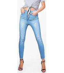ruth high rise distressed thigh skinny jeans