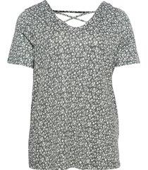 carbandana s/s top t-shirts & tops short-sleeved grå only carmakoma