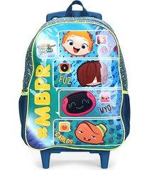 mochila escolar infantil xeryus mini beat power rockers com rodinhas