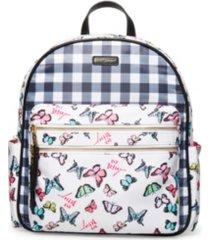 betsey johnson mixed nylon backpack
