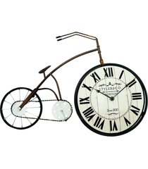 relã³gio  bicicleta de mesa 38x58cm kasa ideia - preto - dafiti
