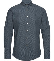 helios spread collar shirt overhemd casual blauw morris