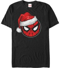 fifth sun men's marvel spider-man santa hat short sleeve t-shirt