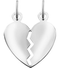 ciondolo cuore you & me in argento 925 rodiato per unisex