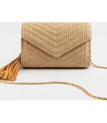 brista envelope clutch crossbody - natural