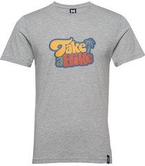 hike tee t-shirts short-sleeved grå bula