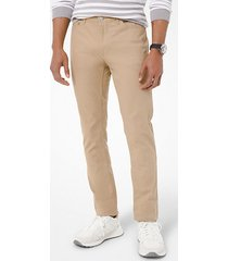 mk pantalone slim-fit parker in twill stretch - cachi (naturale) - michael kors