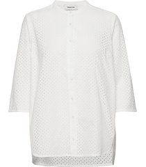 christin shirt overhemd met korte mouwen wit modström