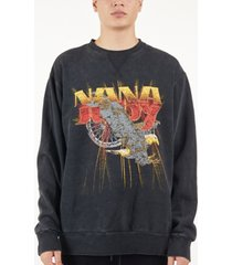 nana judy men's mid west vintage-like sweater with front print