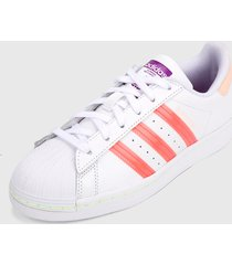tenis lifestyle blanco-coral adidas originals superstar,