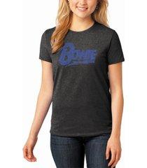 women's david bowie logo premium blend word art t-shirt