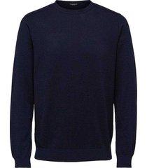 trui crew neck donkerblauw