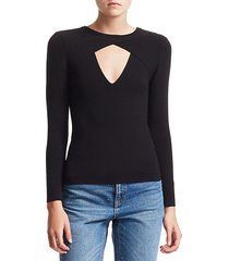 curtis rib-knit cutout sweater