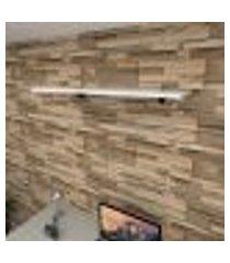 prateleira para escritório mdf suporte tucano cor branco 90(c)x30(p)cm modelo pratesb01