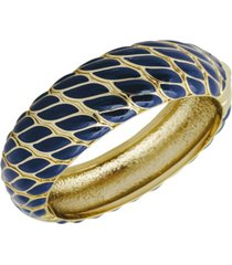 grace kelly collection 18k gold plated woven bracelet