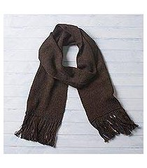 100% alpaca scarf, 'nightland' (peru)