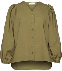 orion blouse lange mouwen groen rodebjer