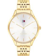 tommy hilfiger women's gold-tone bracelet watch 36mm